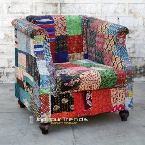 Jaipur Traditional Indian Gudri Fabric Sofa