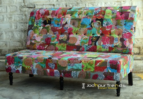 Rajasthani Traditional Gudri Three Seater Sofa