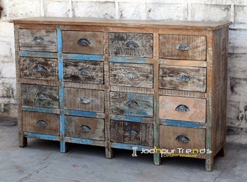 Indian Antique Design Large Drawer Cabinet