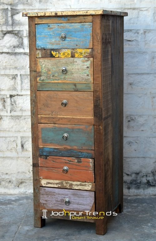 Old Wood Indian Long Cabinet Furniture