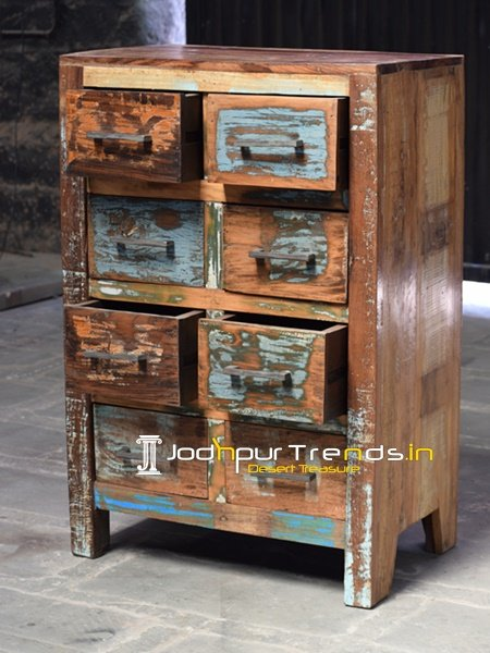 Indian Recycled Antique Wood Cabinet Furniture