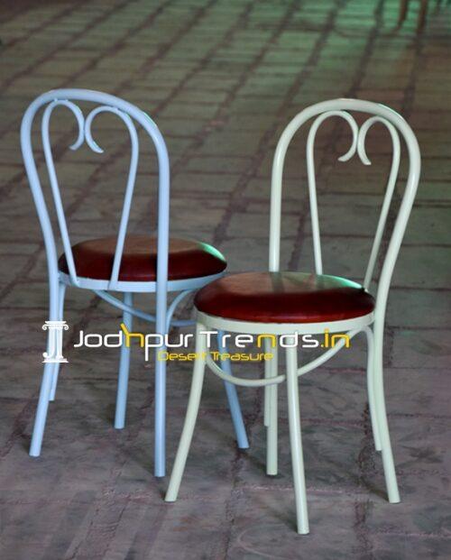 Bent Metal Commercial Grade Outdoor Food Court Chair