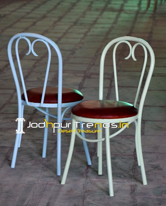 Bent Metal Commercial Grade Outdoor Food Court Chair