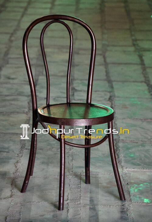Bent Metal Industrial Style Cafe Bistro Chair Design