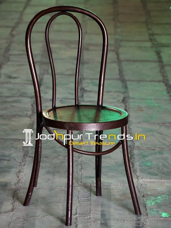 Bent Metal Industrial Style Cafe Bistro Chair Design