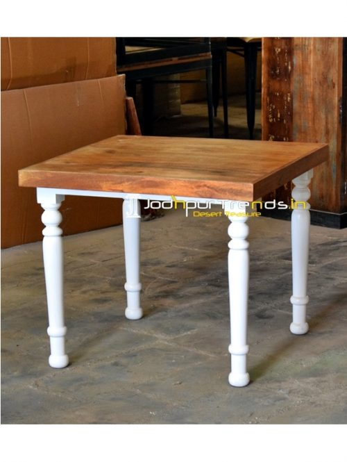 Duel Tone Modern Design Solid Wood Folding Table