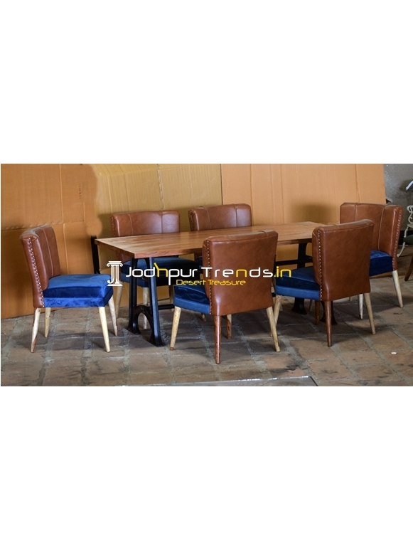 Fine Dine Upholstered Chair Casting Table Set