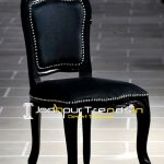 French Design Inspire Black Finish Royal Chair