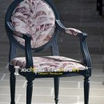 French Design Inspire Curved Printed Fabric Chair