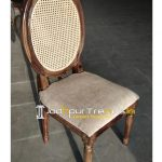 French Design Inspire Natural Cane Back Chair