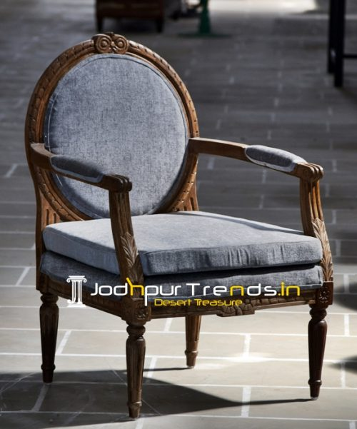 French Design Inspire Walnut Shade Accent Chair