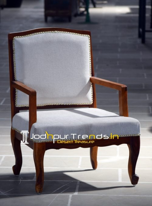 Indian Hand Carved Wood Hotel Room Chair Design