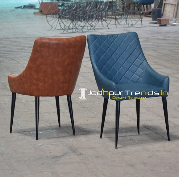 Metal Leatherite Designer Fine Dine Restaurant Chair