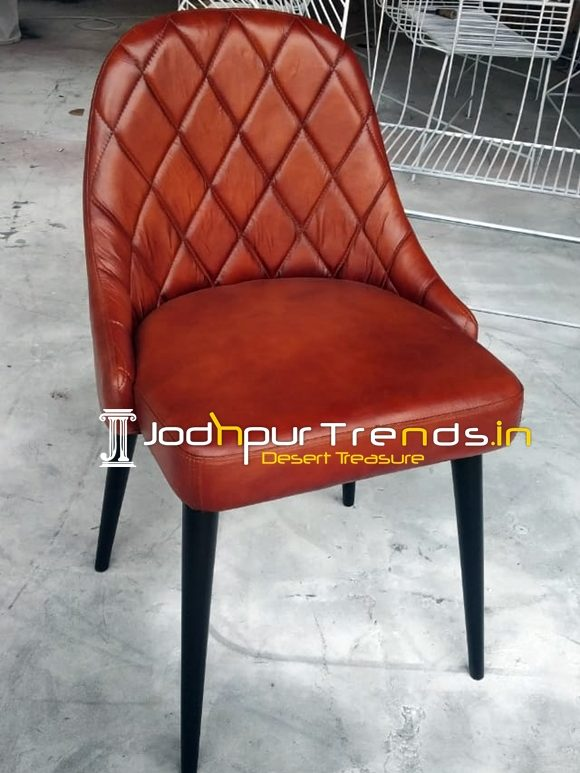 Modern Design Leather Upholstered Fine Dine Chair