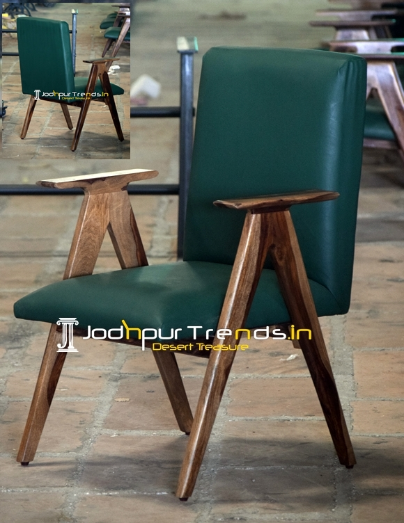 Natural Indian Wood Walnut Shade Modern Chair