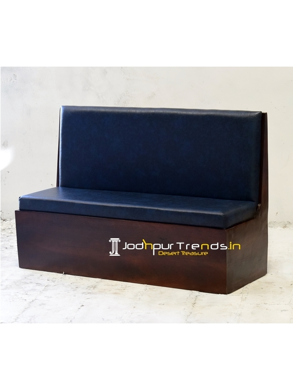Premium Leatherite Wooden Frame Restaurant Booth Sofa