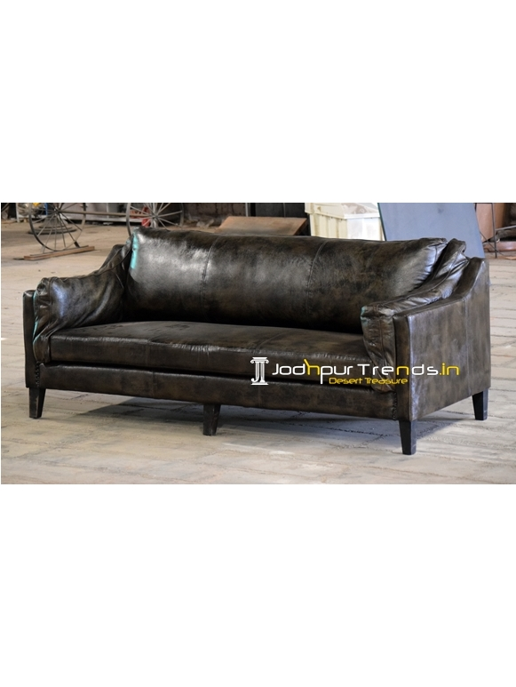 Pure Leather Luxury Design Three Seater Sofa
