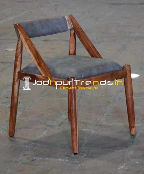 Solid Indian Acacia Wood Upholstered Hospitality Chair