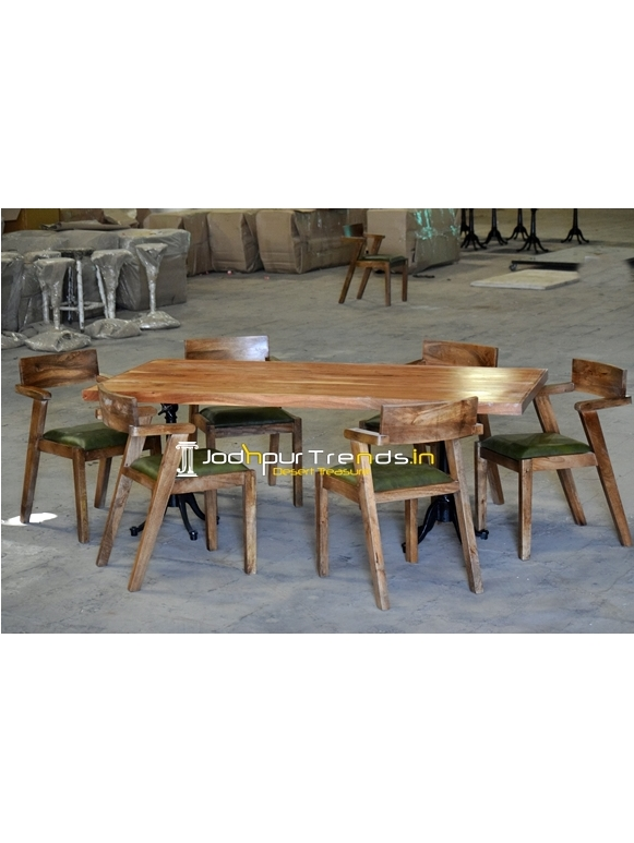 Solid Indian Wood Modern Design Folding Dining Set