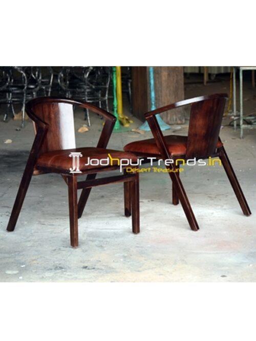 Solid Mango Wood Modern Design Restaurant Chair