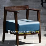Solid Mango Wood Walnut Shade Upholstered Chair