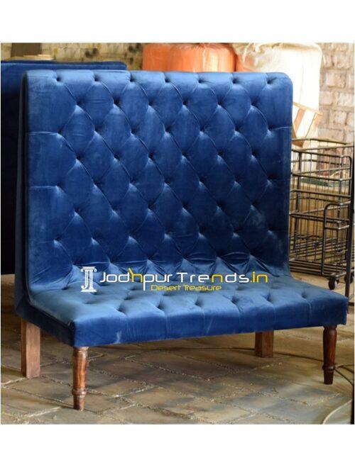Tufted Design Velvet Long Back Designer Sofa