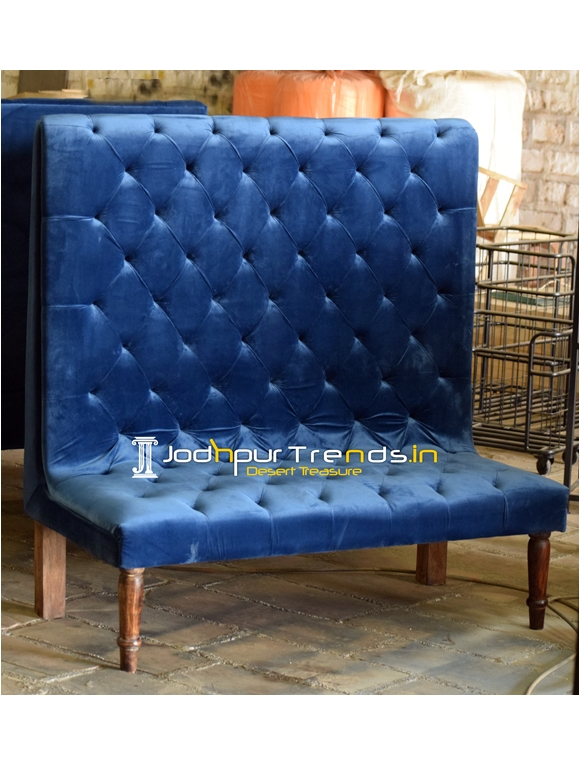 Tufted Design Velvet Long Back Designer Sofa