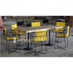 Unique Metal Industrial Design Outdoor Patio Table Set