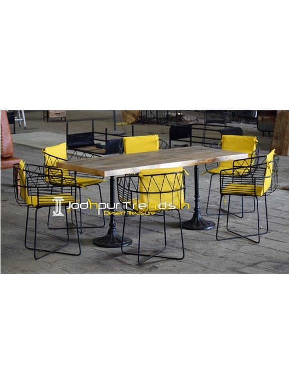 Unique Metal Industrial Design Outdoor Patio Table Set