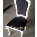 white distress carved chair