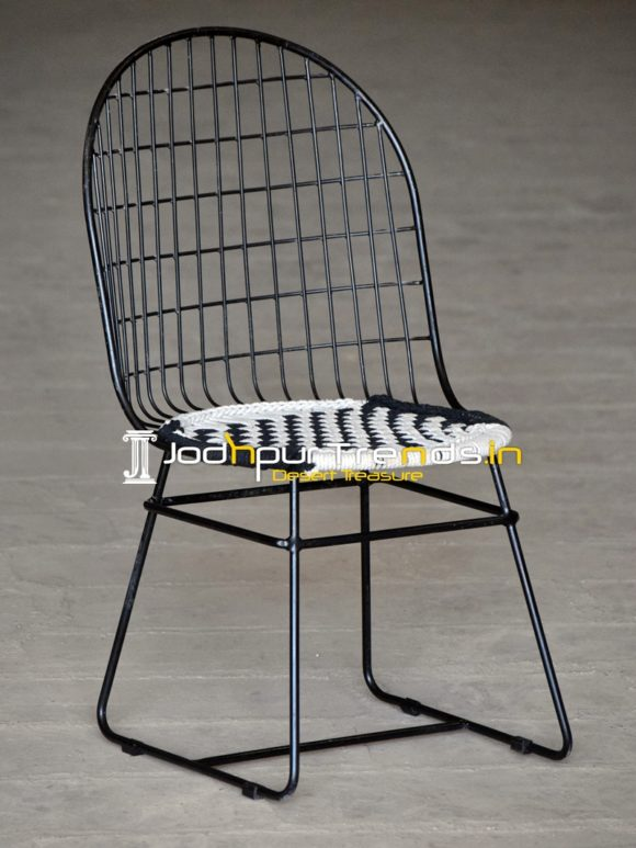 Iron Cotton Rope Weaving Outdoor Chair
