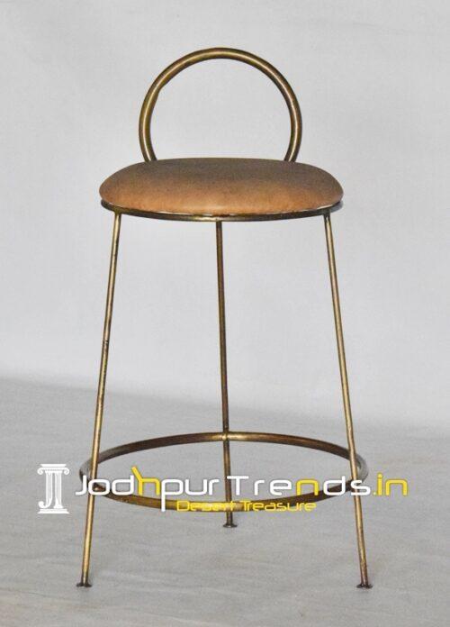 Brass Antique Simple Industrial Bar Chair Design