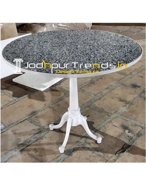 Casting Folding Base with Granite Outdoor Table