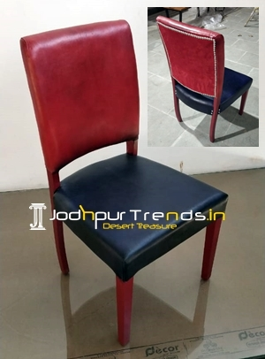 Duel Tone Genuine Leather Unique Dining Chair