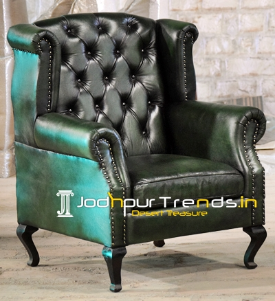 Genuine Goat Leather Couch Sofa Made in India