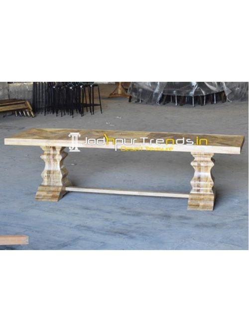 Hand Crafted Mango Wood Community Table