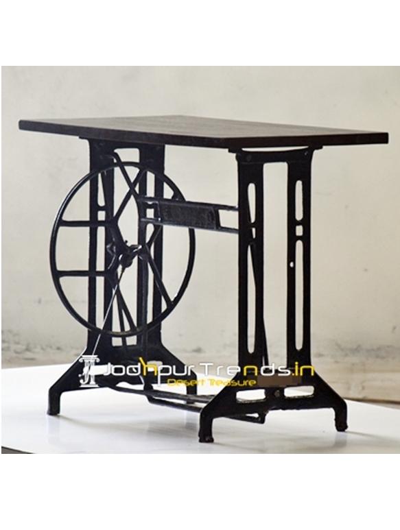 Indian Stitching Machine Casting Base Unique Console Table