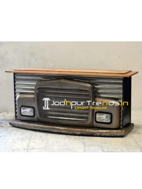 Indian Truck Design Bar Cabinet