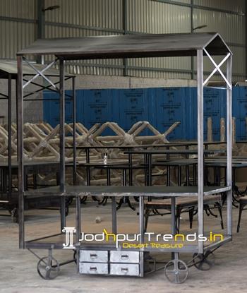 Industrial Trolley Theme Banquet Display Rack