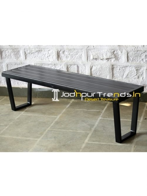 MS Powder Coated Industrial Outdoor Bench