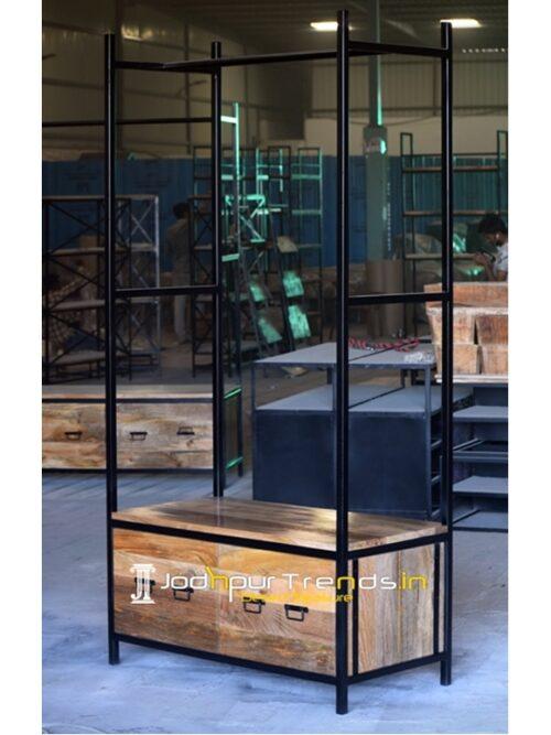Metal Industrial Drawer Enable Display Cabinet