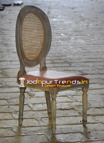 Natural Rattan Cane Carved Restaurant Dining Chair