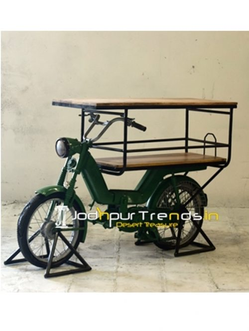 Old Moped Aka Indian Luna Automobile Display Cabinet