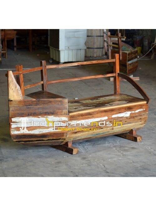 Reclaimed Boat Theme Bench Design