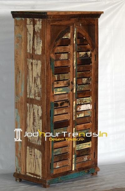 Reclaimed Door Design Indian Wardrobe