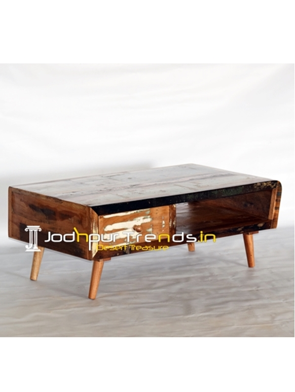 Reclaimed Wood Drawer Center Coffee Table
