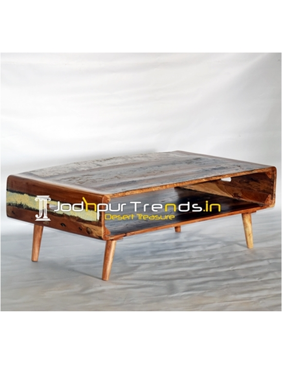 Reclaimed Wood Simple Design Center Table