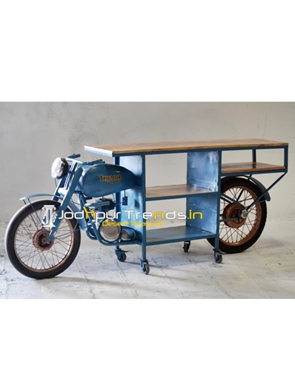 Recycled Indian Moped Automobile Display Cabinet