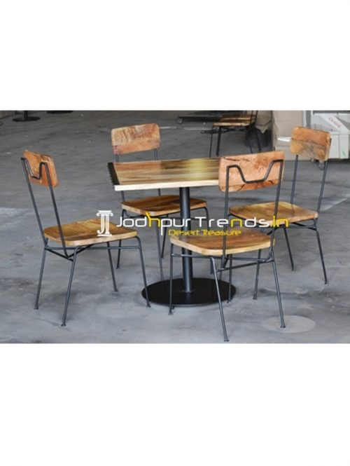 Semi Outdoor Industrial Theme Four Seater Dining Set
