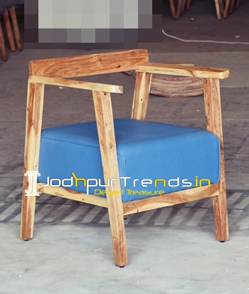 Solid Acacia Wood Leatherette Fine Dine Chair